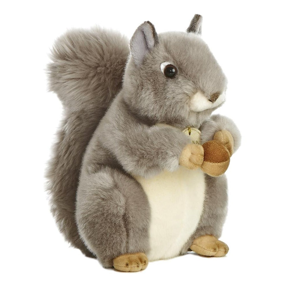 "NEW AURORA MIYONI 10"" GREY SQUIRREL 26172 PLUSH CUDDLY SOFT TOY TEDDY"