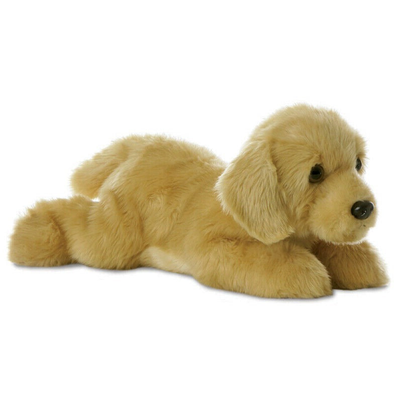 "AURORA 12"" FLOPSIE PLUSH GOLDEN LABRADOR 31117 CUDDLY SOFT TOY DOG"