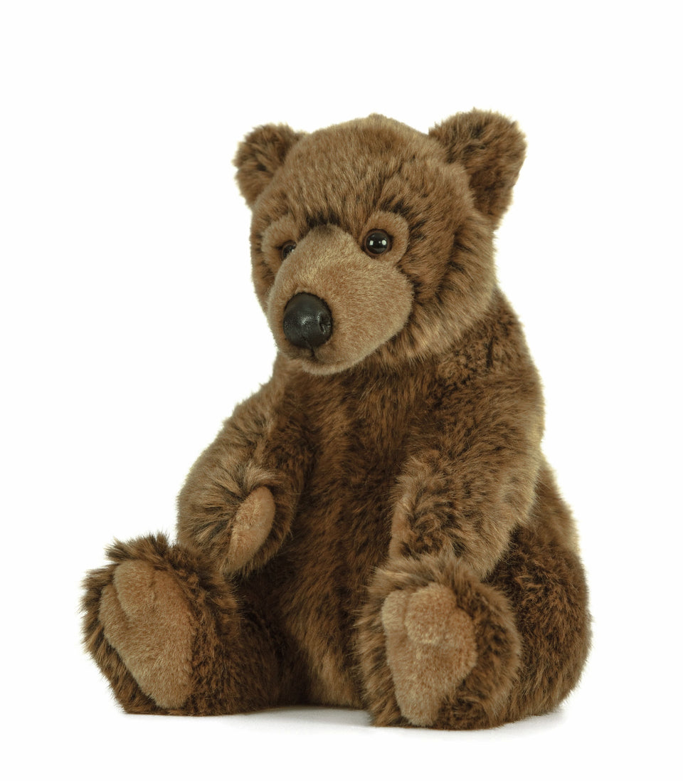 LIVING NATURE BROWN BEAR MEDIUM AN430 SOFT TOY CUDDLY PLUSH