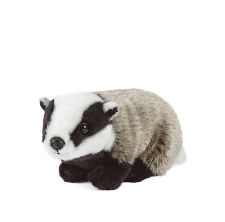 LIVING NATURE LARGE BADGER SOFT CUDDLY PLUSH TOY