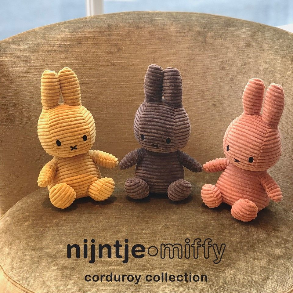 MIFFY NIJNTJE CORDUROY YELLOW SOFT TOY PLUSH DICK BRUNA COLLECTABLE