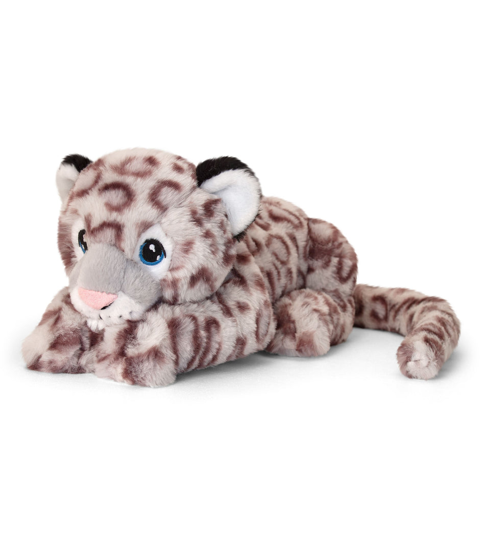 KEELECO 25cm SNOW LEOPARD CAT SOFT CUDDLY PLUSH TOY