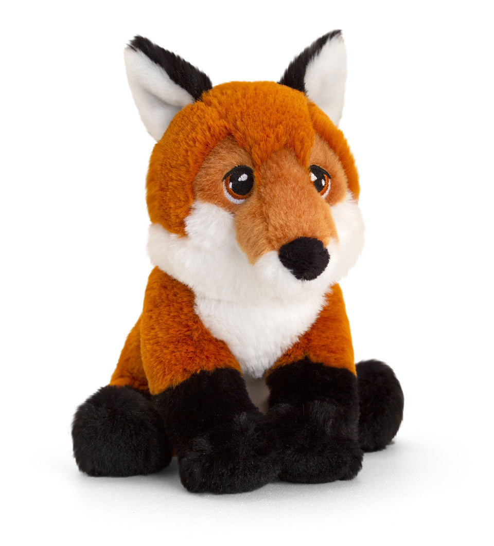KEELECO FOX 18CM SOFT CUDDLY PLUSH RECYCLED TOY