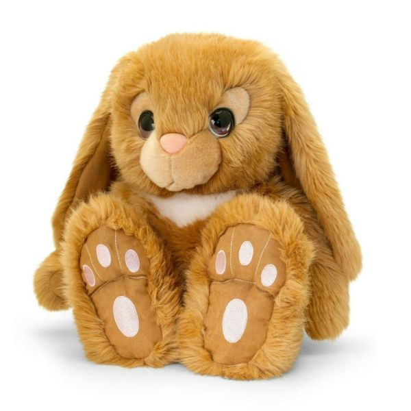 KEEL 18cm PATCHFOOT SIGNATURE CUDDLE BUNNY BROWN