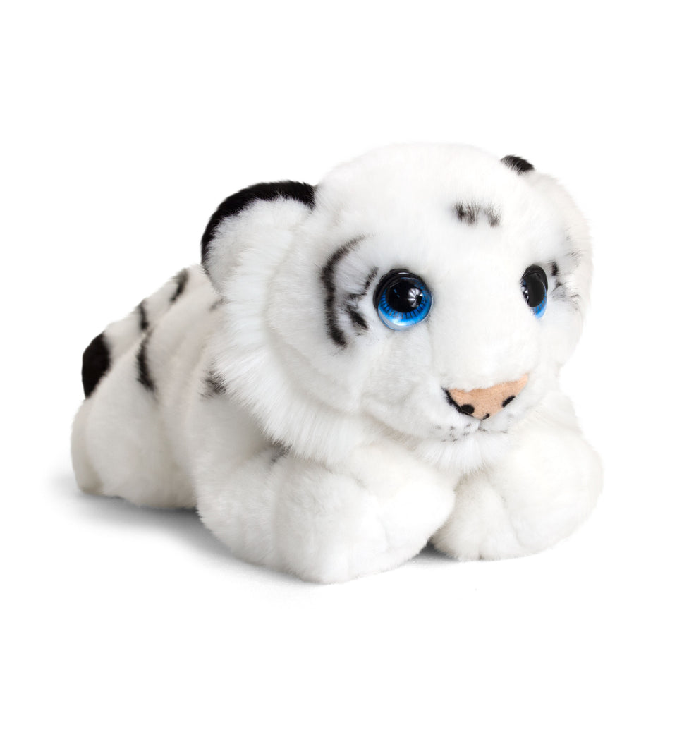 KEEL 25cm SIGNATURE CUDDLE WILD WHITE TIGER CAT SOFT CUDDLY PLUSH TOY