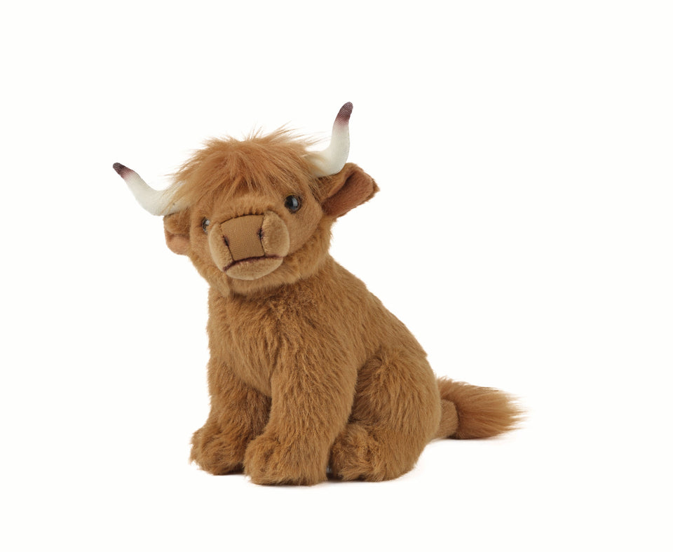 LIVING NATURE HIGHLAND COW AN110 SOFT CUDDLY PLUSH TOY