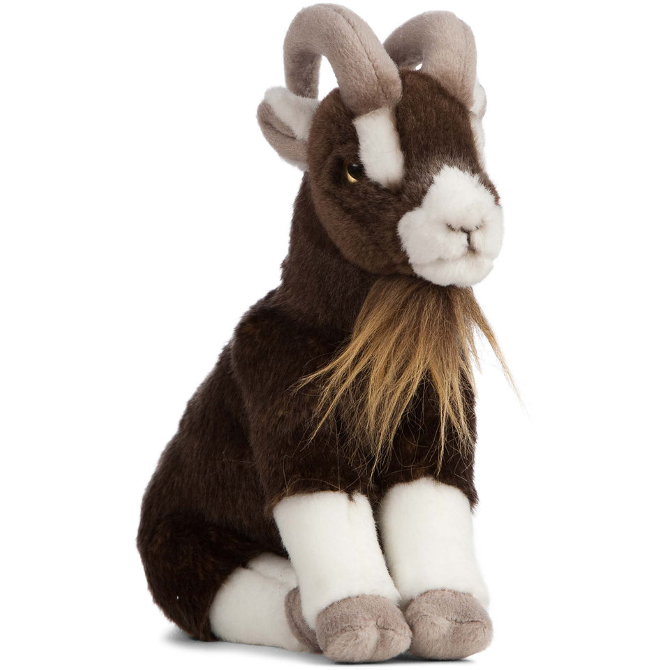 NEW LIVING NATURE BROWN GOAT SITTING AN408 SOFT TOY CUDDLY PLUSH