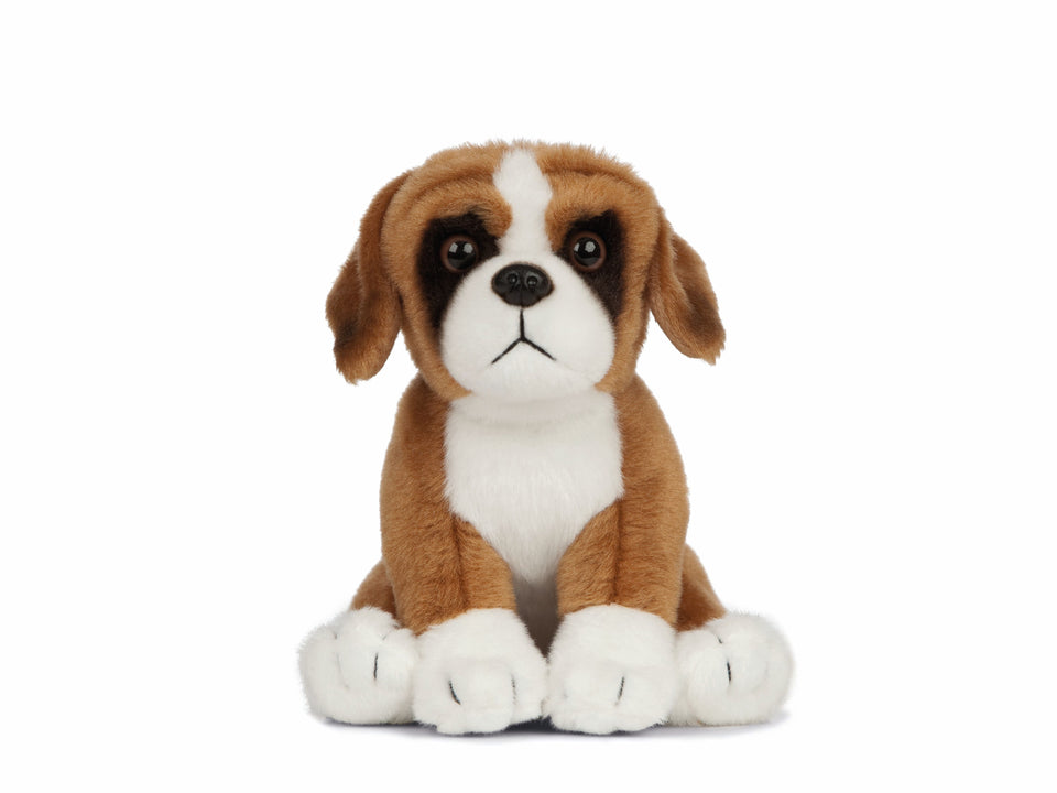 LIVING NATURE BOXER DOG PUPPY AN434 CUDDLY PLUSH SOFT TEDDY