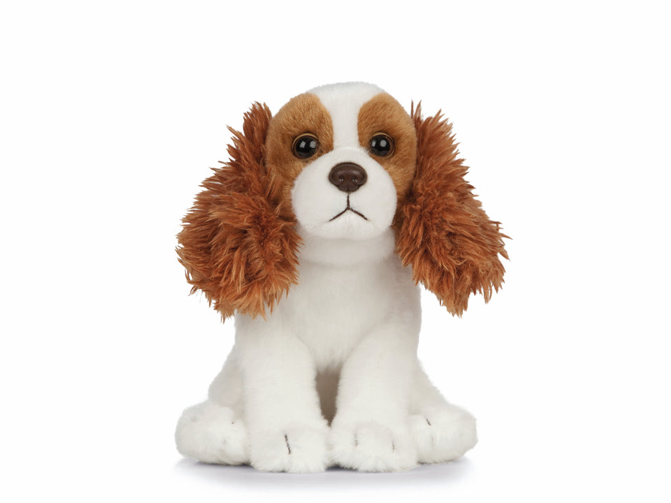 LIVING NATURE KING CHARLES CAVALIER PUPPY DOG AN435 CUDDLY PLUSH