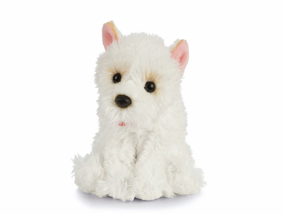 LIVING NATURE WEST HIGHLAND TERRIER PUPPY AN441 CUDDLY PLUSH TOY