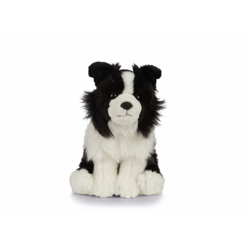 LIVING NATURE BORDER COLLIE DOG AN460 SOFT FLUFFY PLUSH TOY