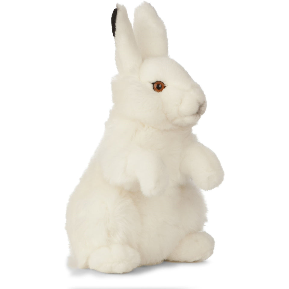 LIVING NATURE ARCTIC HARE AN477 PLUSH CUDDLY WHITE