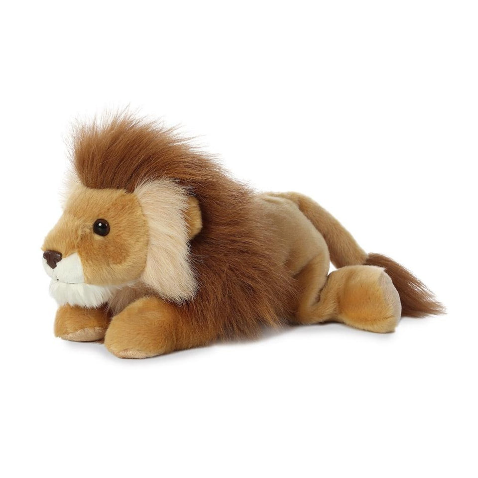 "NEW AURORA PLUSH 12"" FLOPSIE LEONARDUS LION 13251 SOFT STUFFED TOY CAT"