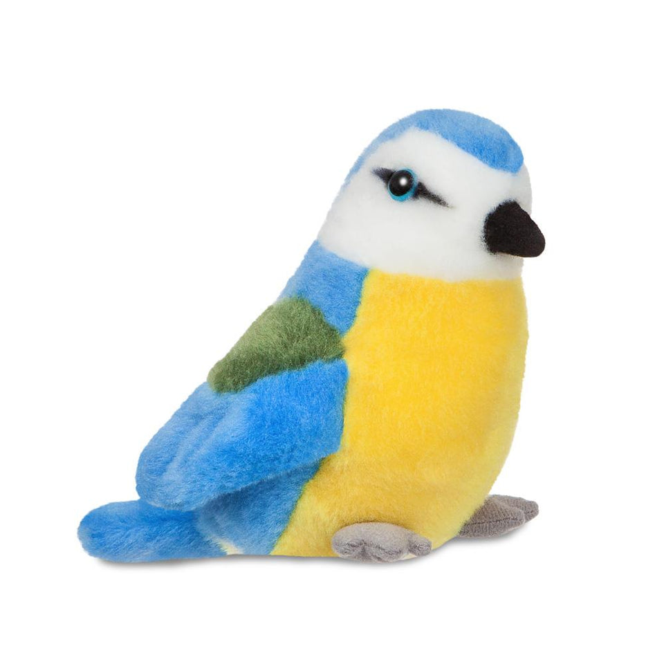 "NEW AURORA MINI FLOPSIE PLUSH BLUE TIT 8"" CUDDLY 61006 SOFT TOY BIRD"