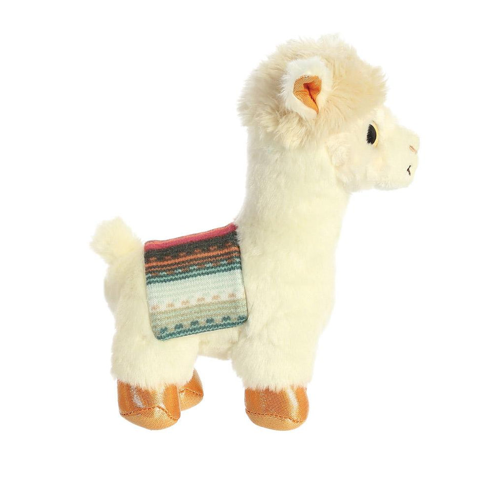 "NEW AURORA 7"" SPARKLE TALES BUTTERCUP ALPACA 61030 SOFT PLUSH PLUSH TOY"