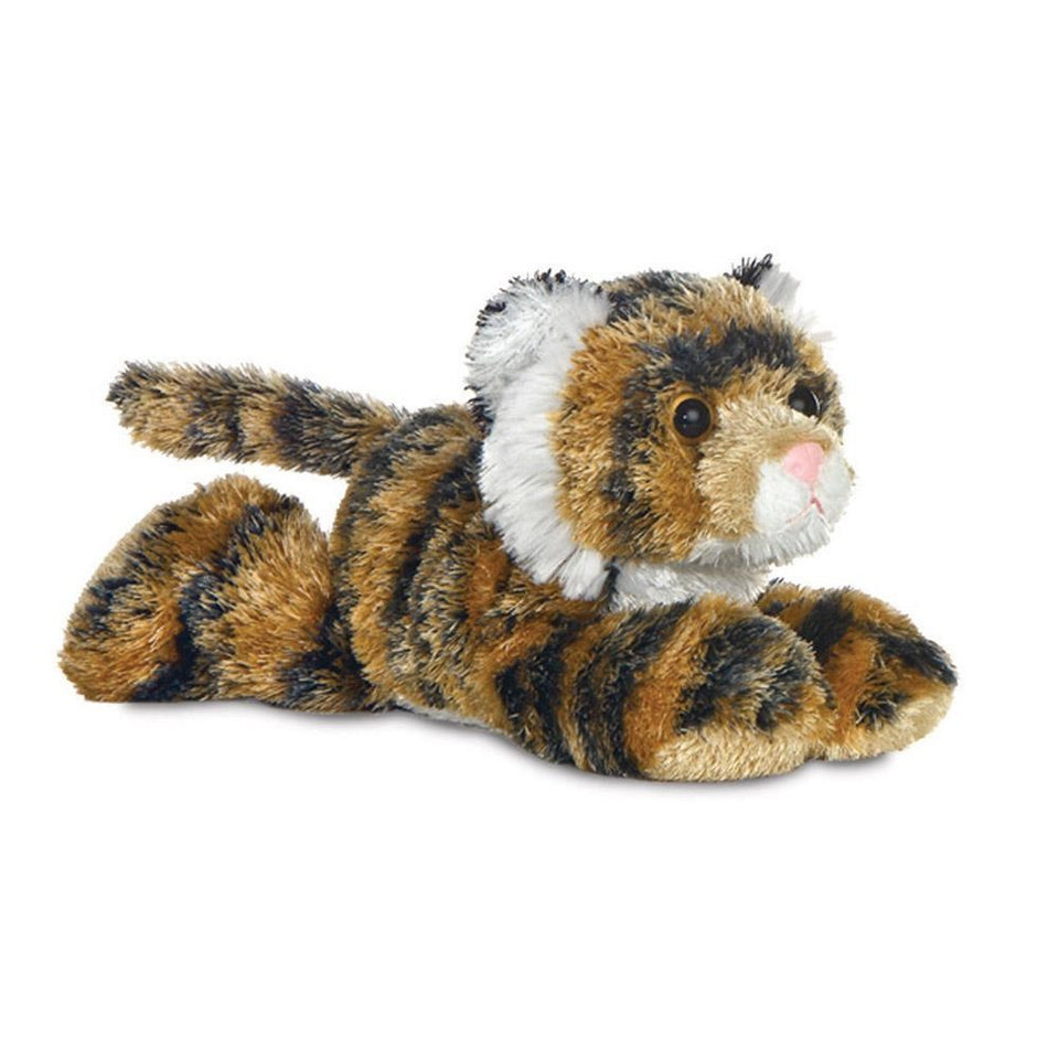 "NEW PLUSH MINI FLOPSIE 8"" TANYA BENGAL TIGER 12758 SOFT TOY TEDDY"