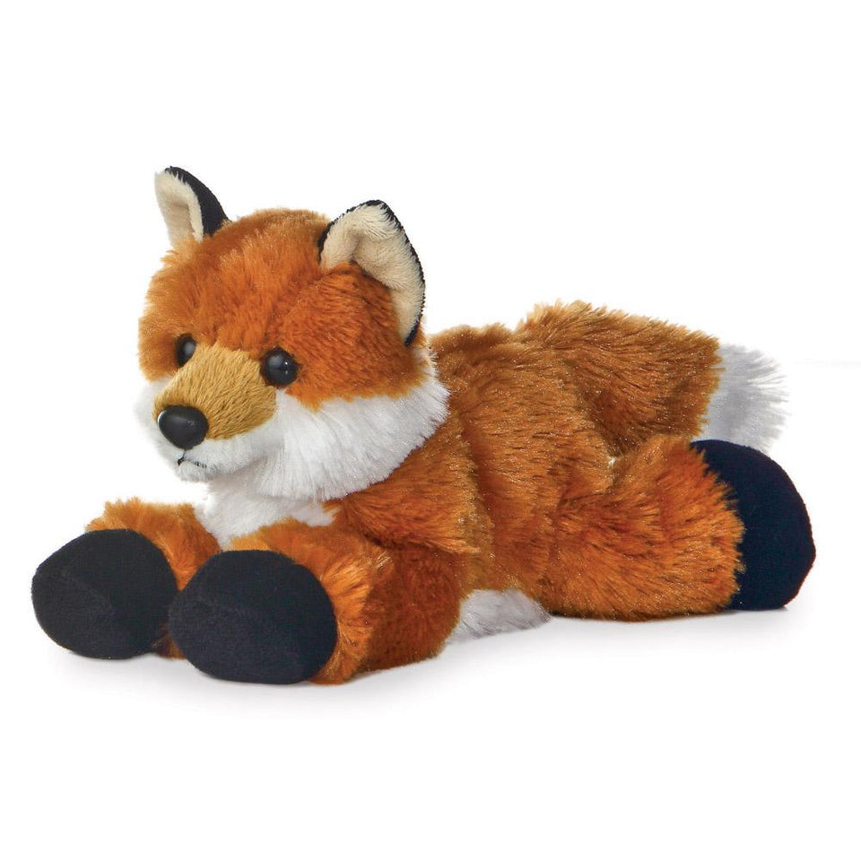 "NEW AURORA 8"" MINI FLOPSIE PLUSH FOXXIE FOX 12745 SOFT TOY TEDDY FARM"