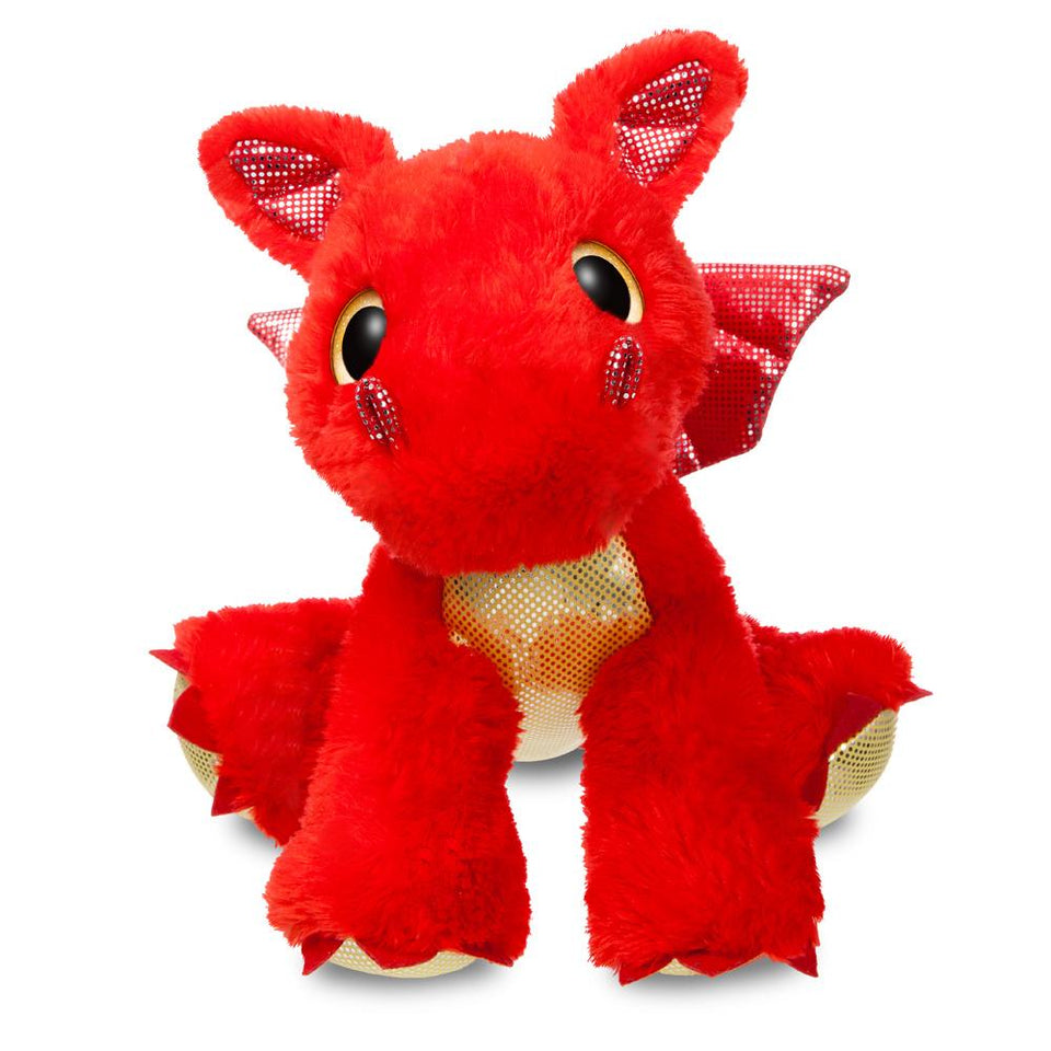"NEW AURORA 12"" SPARKLE TALES PLUSH SIZZLE RED DRAGON CUDDLY SOFT TOY TEDDY 60858"