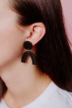 Load image into Gallery viewer, Black Rainbow Earrings