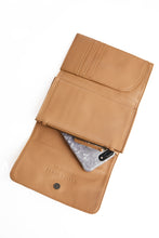 Load image into Gallery viewer, Camel Travel Wallet Crossbody