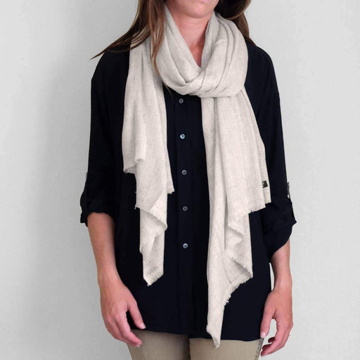 Cashmere Scarf in Oatmeal Color