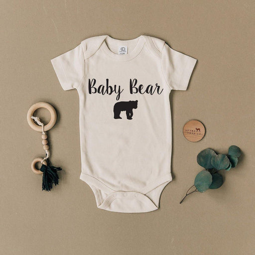 Baby Bear Organic Cotton Body Suit - The Red Lark Shop