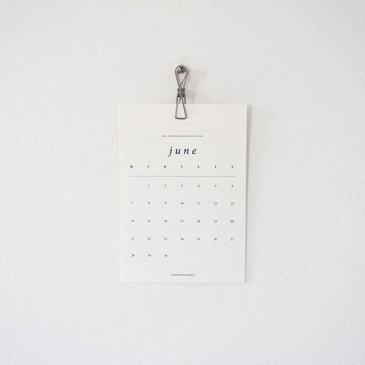 Silver Calendar Clip - The Red Lark Shop