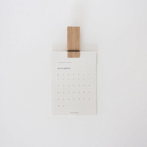 Pinch Calendar Clip - The Red Lark Shop