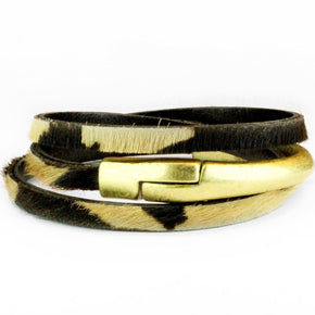 Triple Leather Wrap Bracelet - The Red Lark Shop