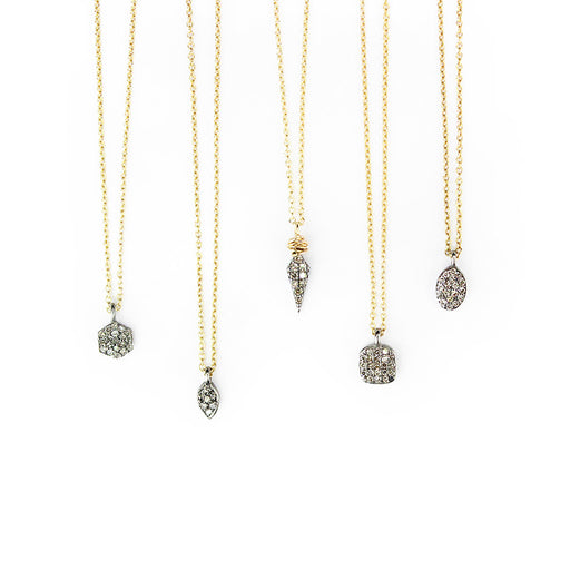 Square Pave Diamond Pendent - The Red Lark Shop