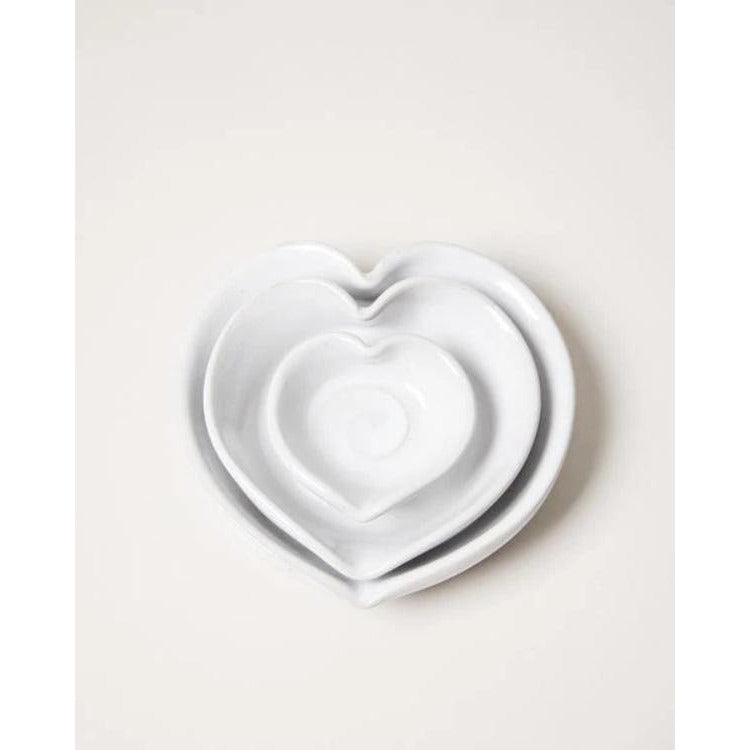 American Stoneware Heart-Shaped Dish - The Red Lark Shop