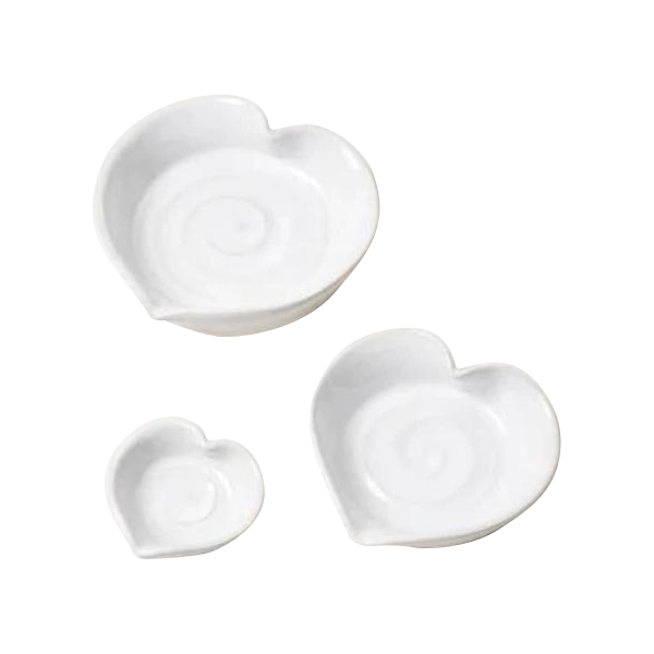 American Stoneware Heart-Shaped Dish
