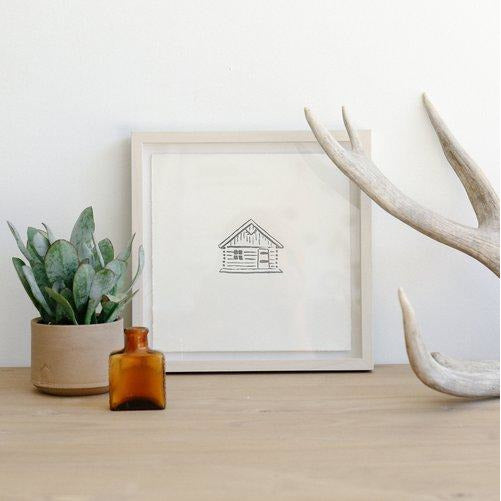 Tiny Cabin Print - The Red Lark Shop
