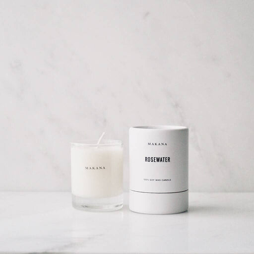 Rosewater Petite Candle - The Red Lark Shop