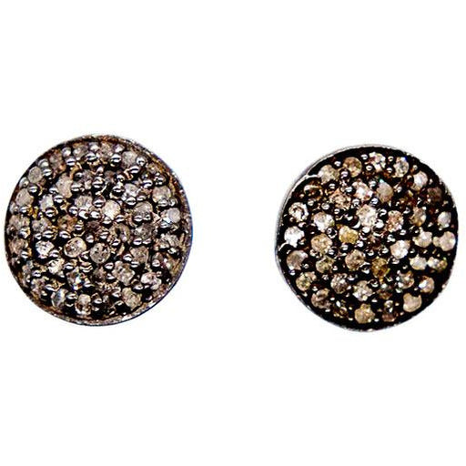 Round Pave Diamond Studs - The Red Lark Shop