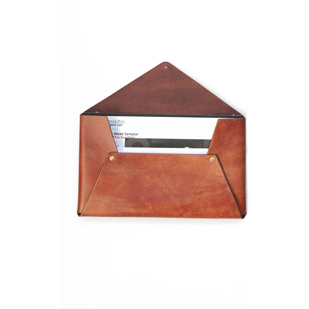 Leather Wall Envelope - The Red Lark Shop