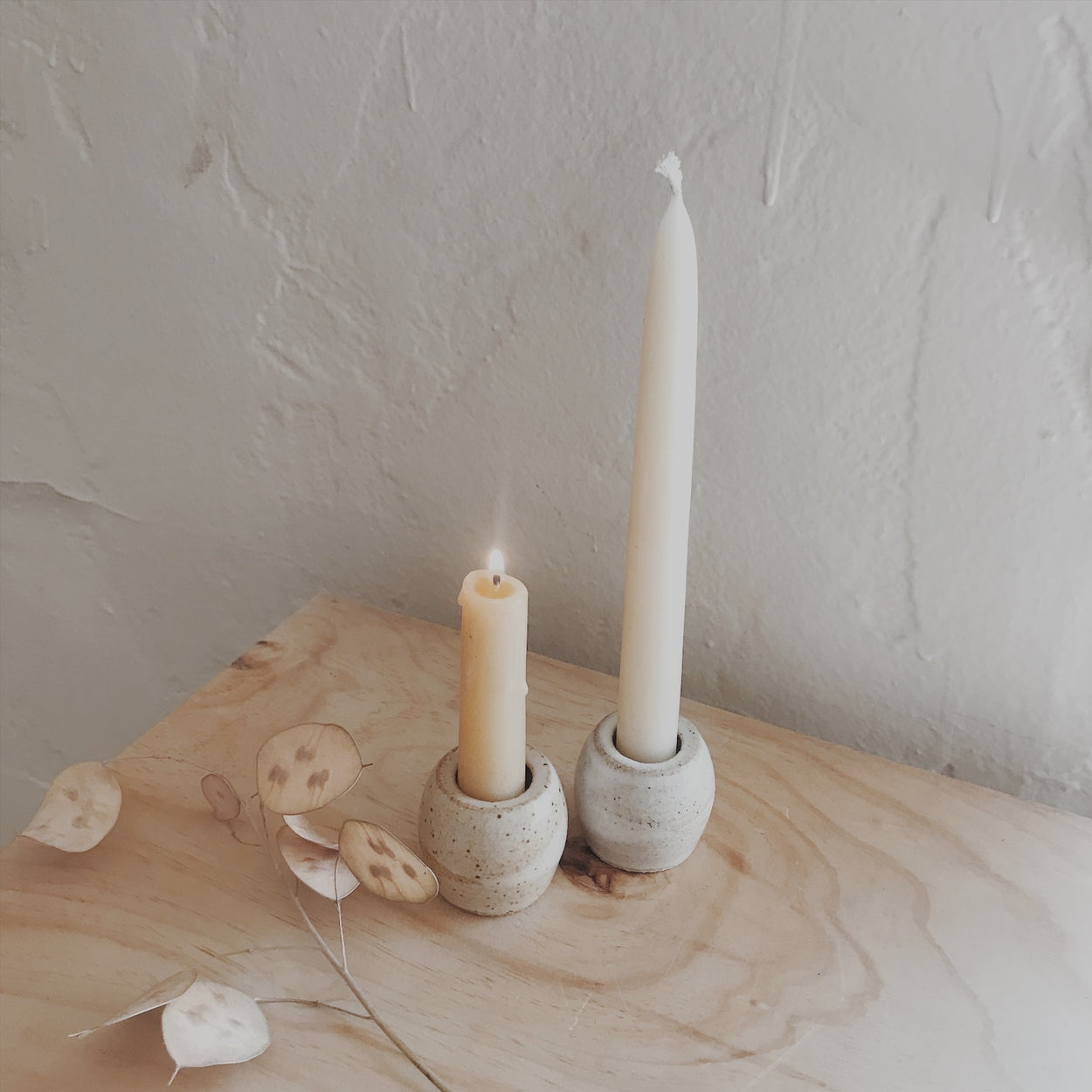 Handmade Small Ceramic Candle Holder