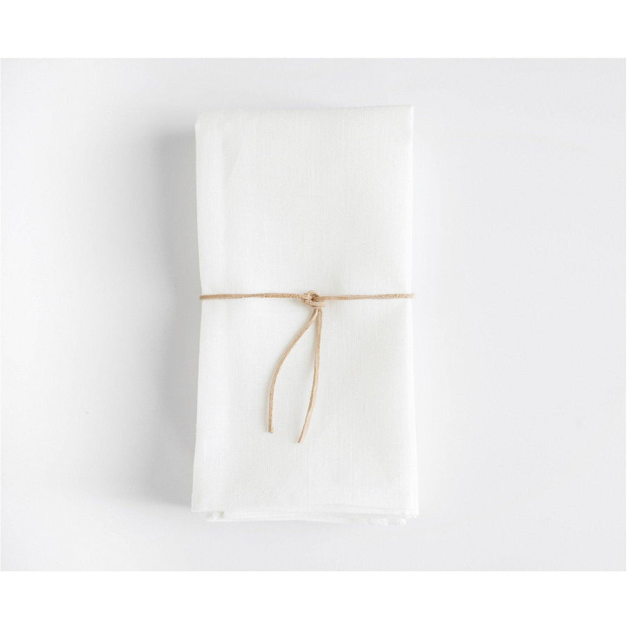 Heirloom Napkins - White Linen