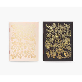 Black & Gold Foil Pocket Notebooks - The Red Lark Shop