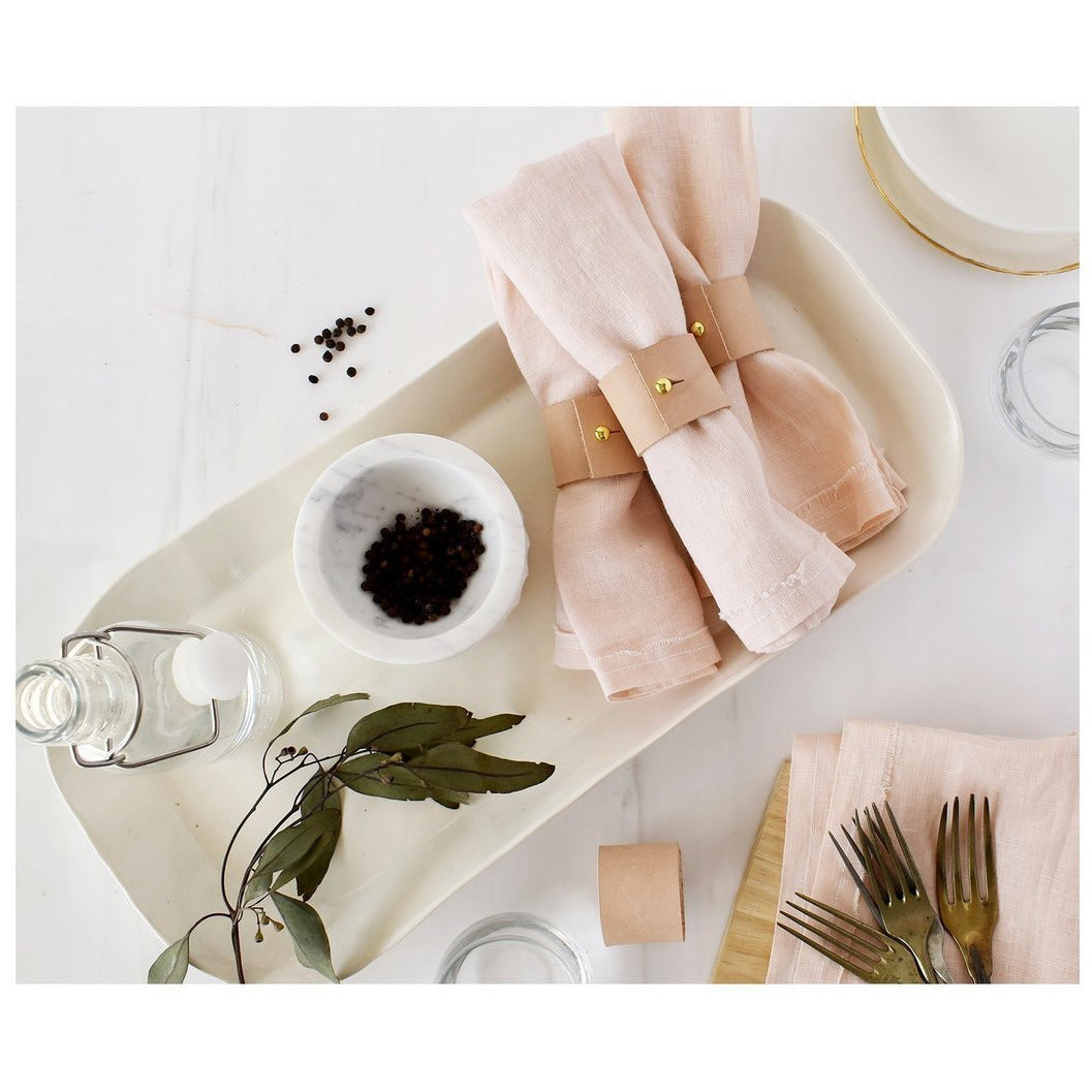 Leather Napkin Rings - The Red Lark Shop