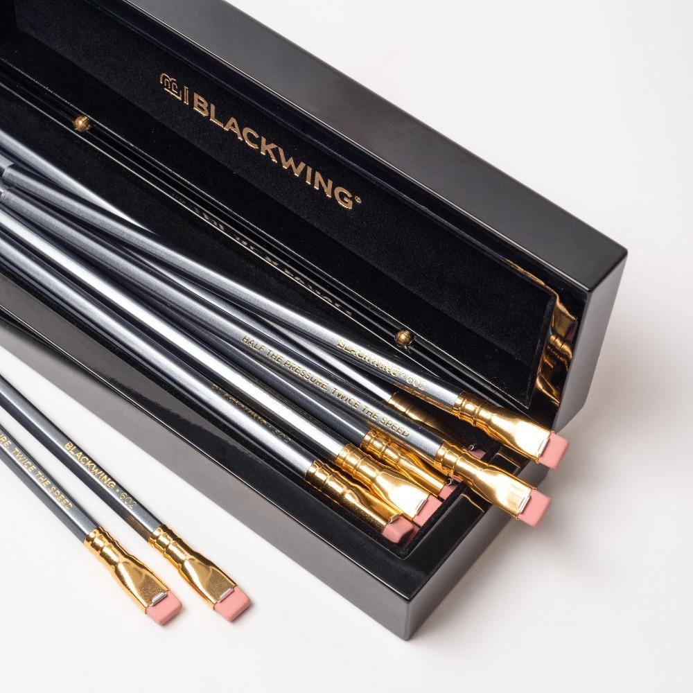 Blackwing Piano Box filled with 12 Blackwing 602 Pencils