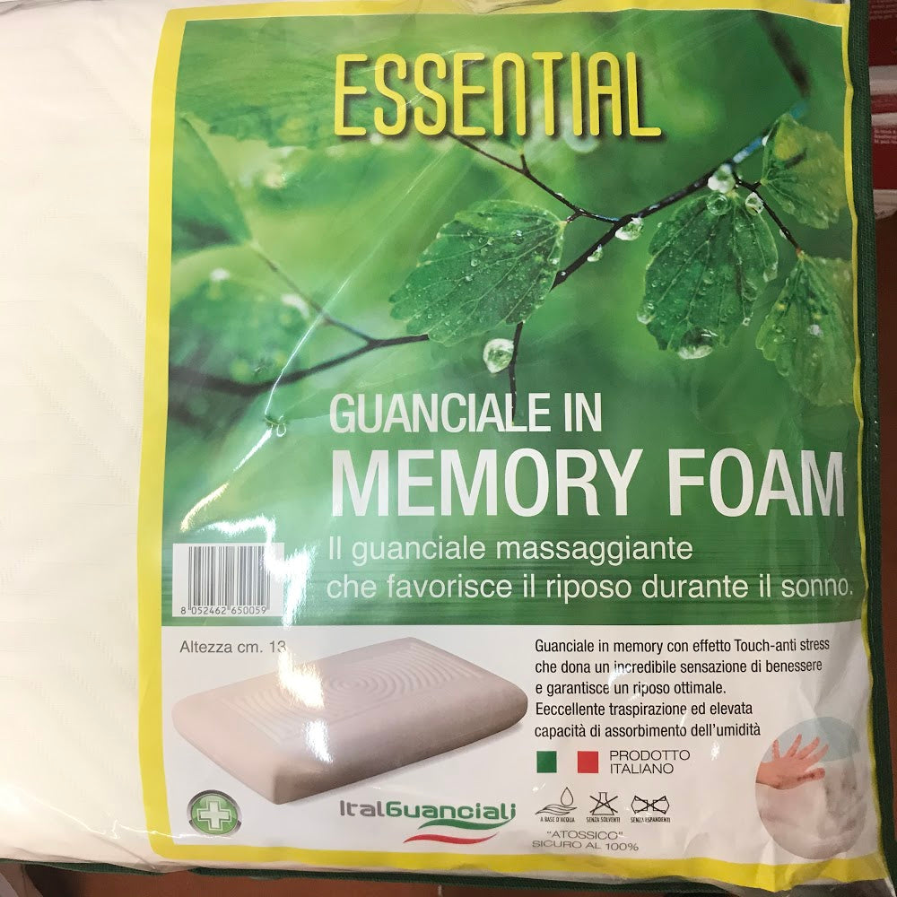 Essential guanciale in memory foam