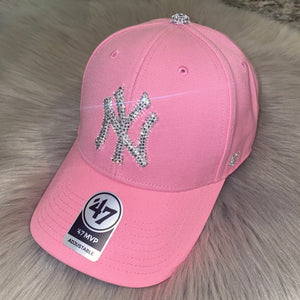 Blinged Logo Dad Caps (ANY TEAM)