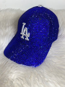 LA Dodgers Blinged Dad Cap - BLUE