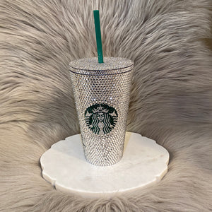 SBux Encrusted Blinged Tumbler Cup 16oz.