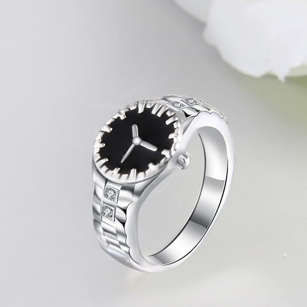 Women New Style Watch Rings with Cubic Zirconia Gem Silver Jewelry 2020 New Design Rings - 2tx1
