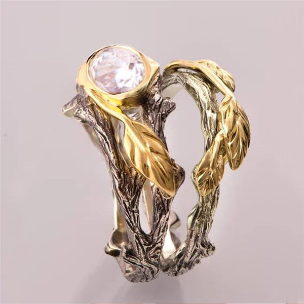 Women Flower Ring Sets for Women Vintage Retro Silver Gold Color Finger Jewelry 2020 New Design Rings - 2tx1