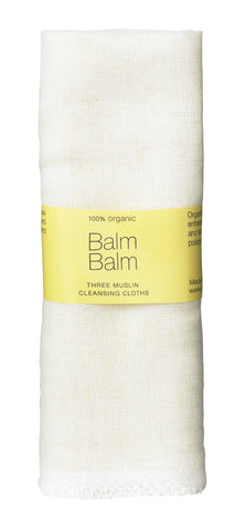 Organic Muslin Face Cloths - Set of 3