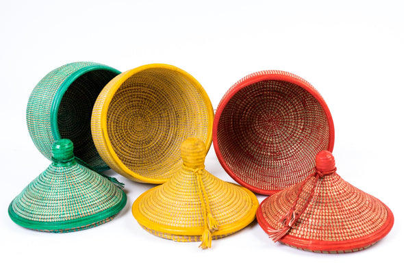 MARMITE LEATHER BASKET - Tackussanu Senegal