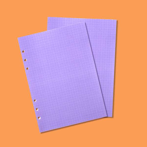 A5 refill Grid note Purple